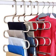 S-Shaped Hangers To Store More Clothes In One Spot