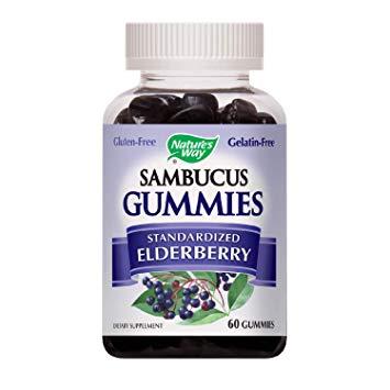 Amazon.com: Nature's Way Sambucus Elderberry Gummies, Herbal
