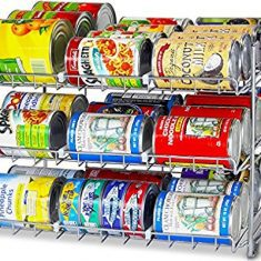 Organizer That Keeps Food Cans Stacked And Orderly
