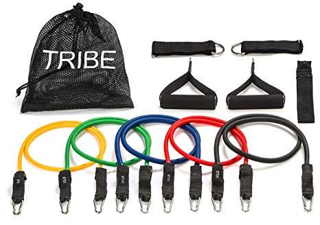Amazon.com : Tribe 11PC Premium Resistance Bands Set, Workout