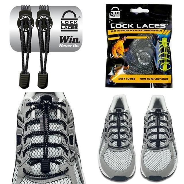 Buy Footwear Shoelaces Lock Laces Elastic No Tie Performance