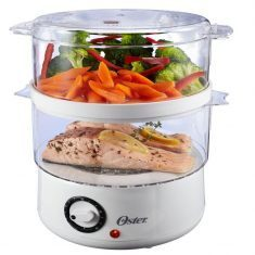 Oster Double Tiered Food Steamer So You Can Cook Foods Separately