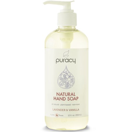 PURACY - Natural Hand Soap - Lavender & Vanilla 12 fl. oz/355 ml