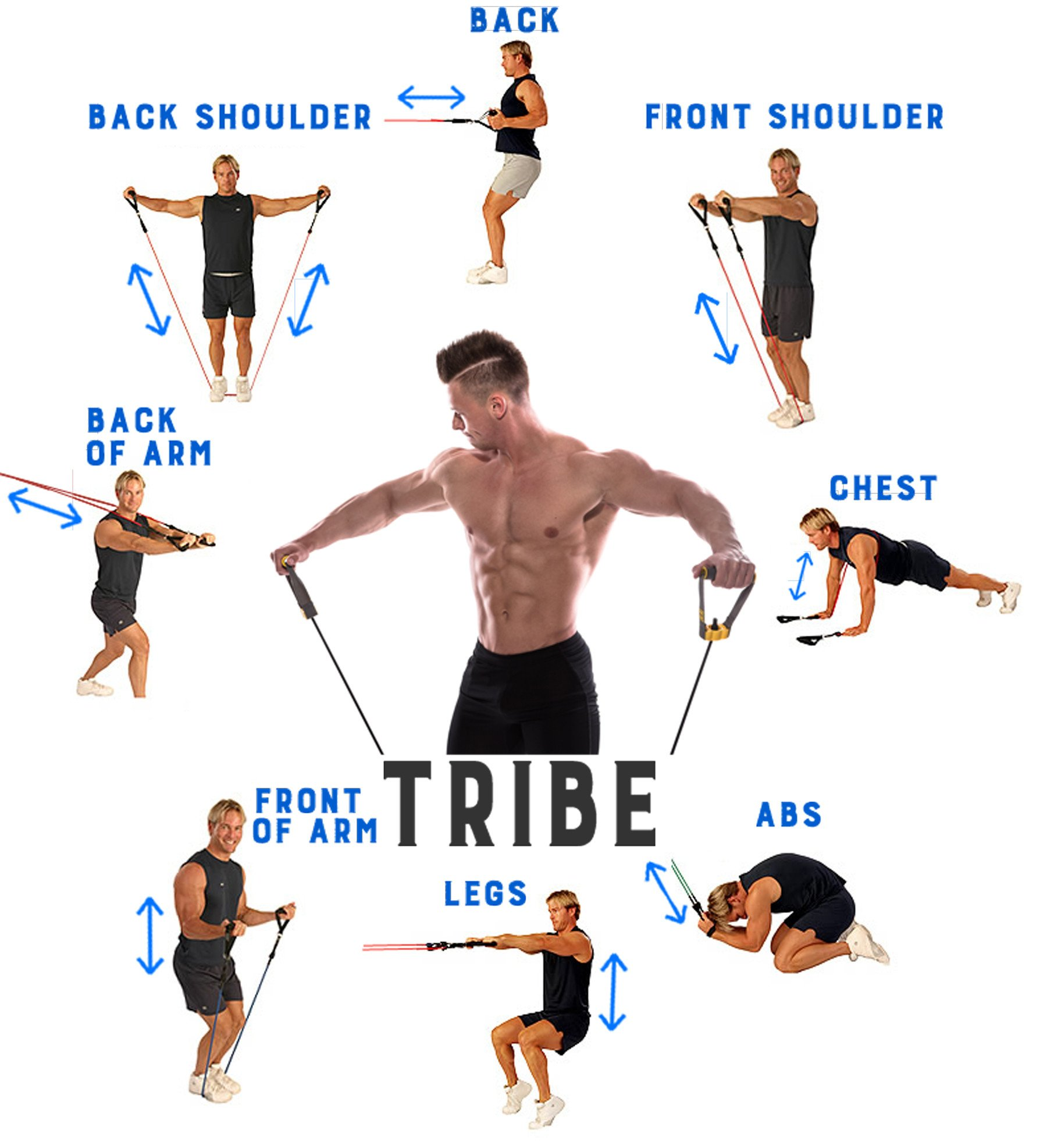 Resistance Exercise Band Set | Tribe Fitness